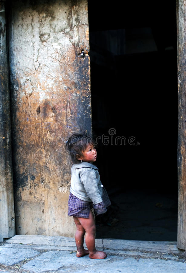 Menina nepalesa foto de stock