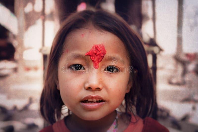 Menina nepalesa fotos de stock royalty free
