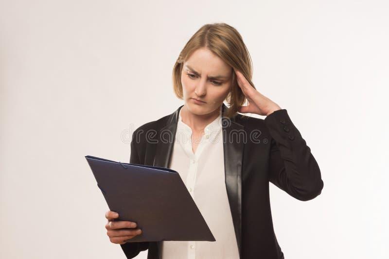 Menina nervosa imagens de stock