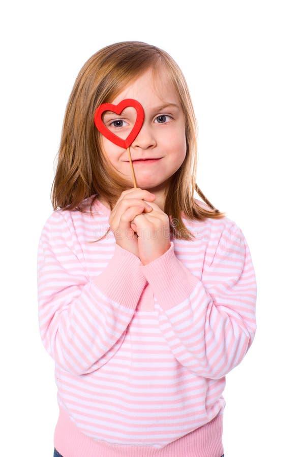 Menina no amor imagens de stock
