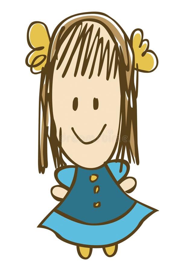 Menina no azul imagem de stock