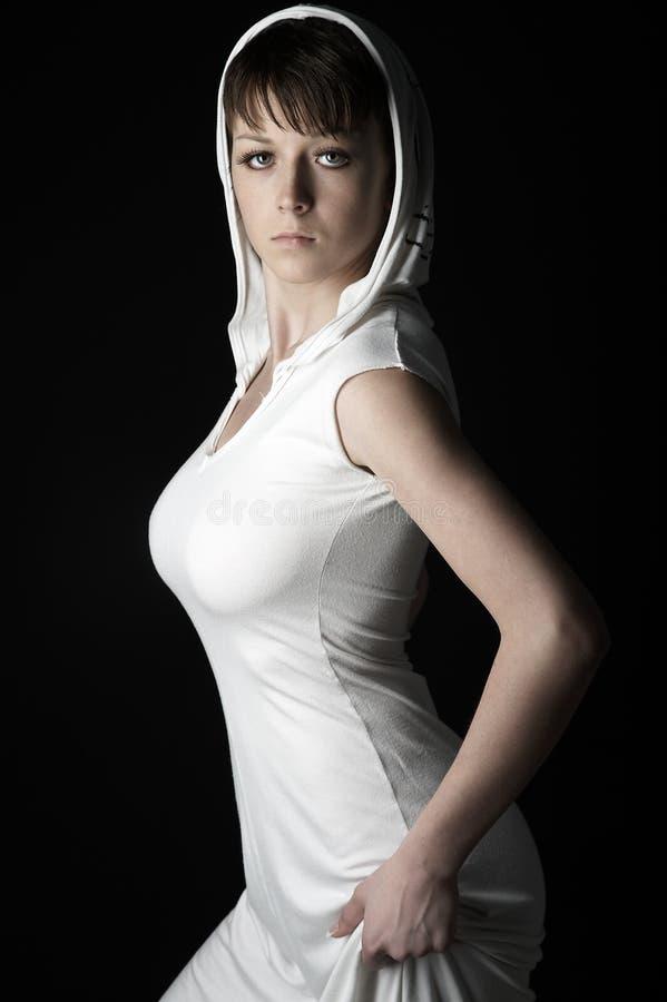 Menina No Branco Imagens De Stock