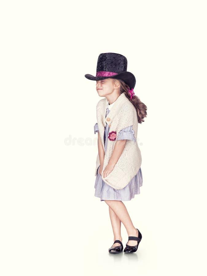 Menina no chapéu fotografia de stock