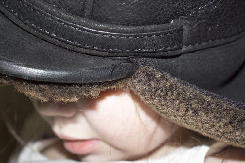 A menina no chapéu imagens de stock royalty free
