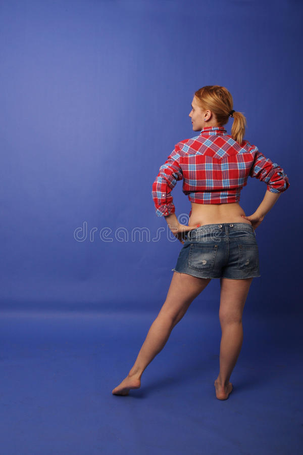 Menina no estúdio da foto fotos de stock