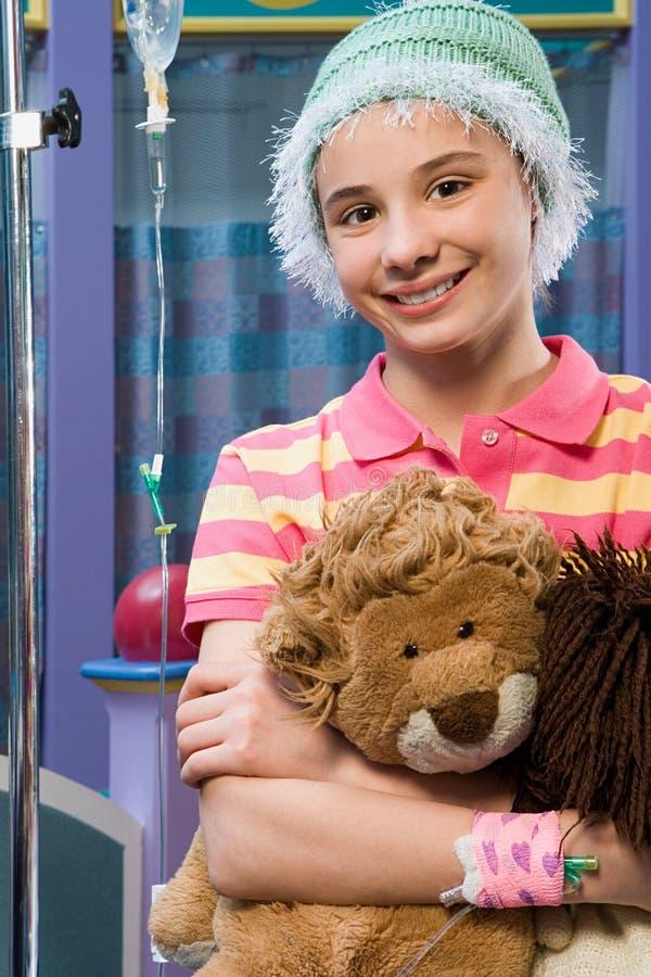 Menina no hospital imagens de stock