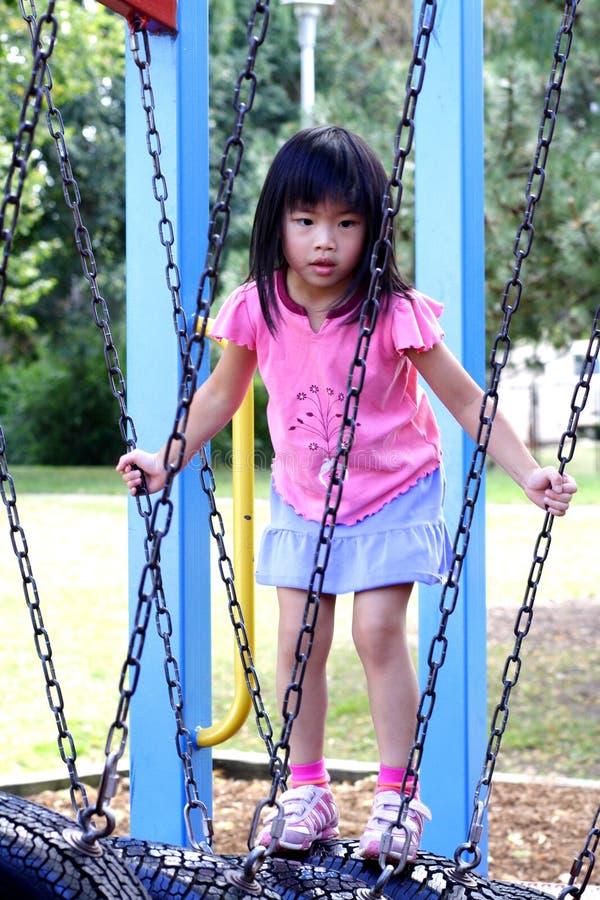 Menina no parque imagens de stock royalty free