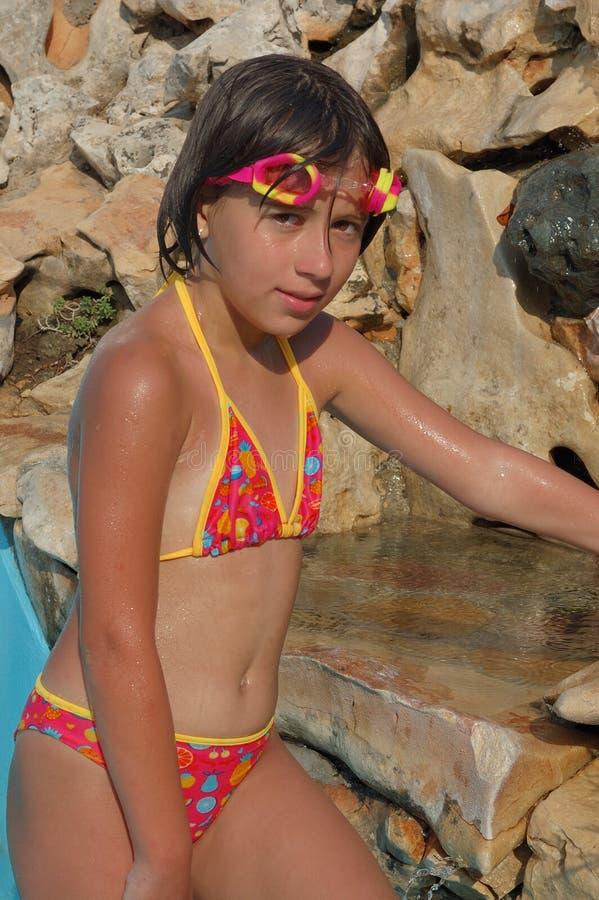 Menina no swimsuit imagem de stock royalty free