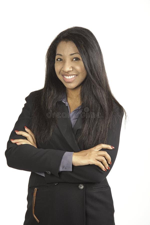 Menina no terno de negócio. imagem de stock
