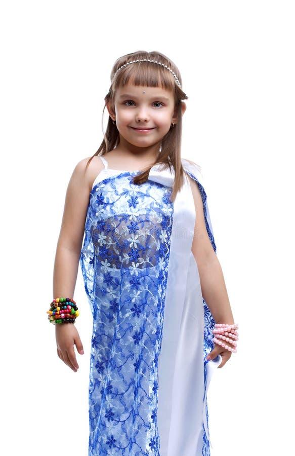 Menina no traje indiano foto de stock royalty free