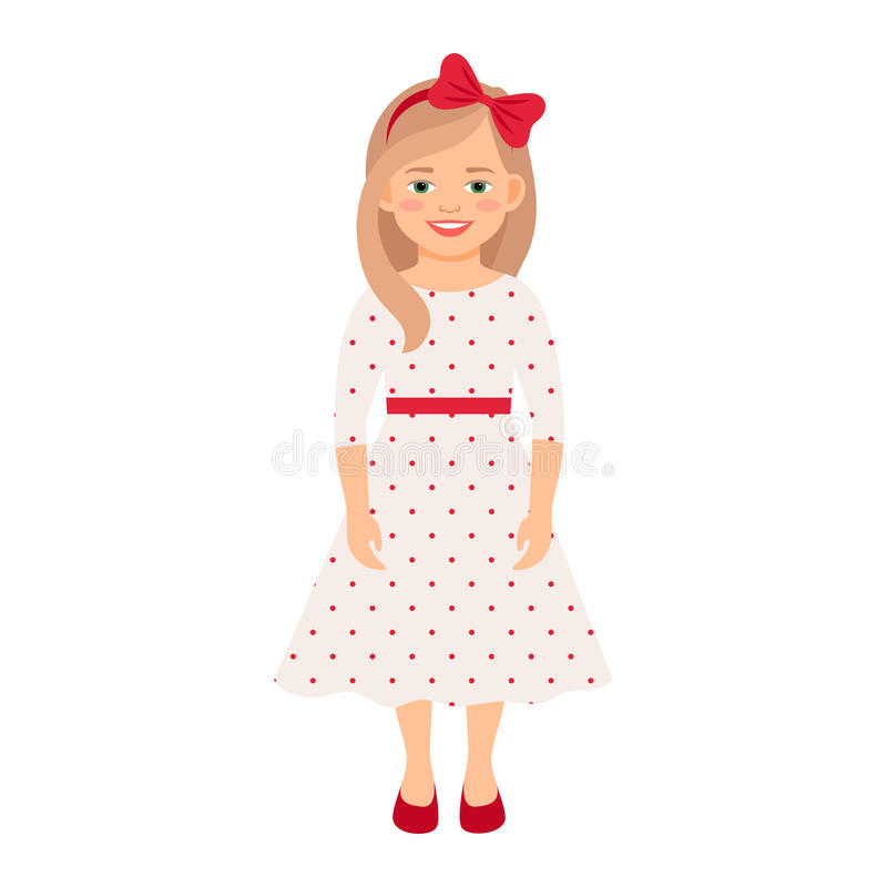 Menina no vestido do verão ilustração do vetor