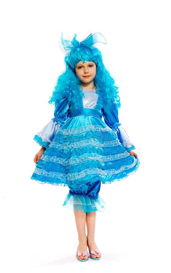 Menina no vestido extravagante fotografia de stock