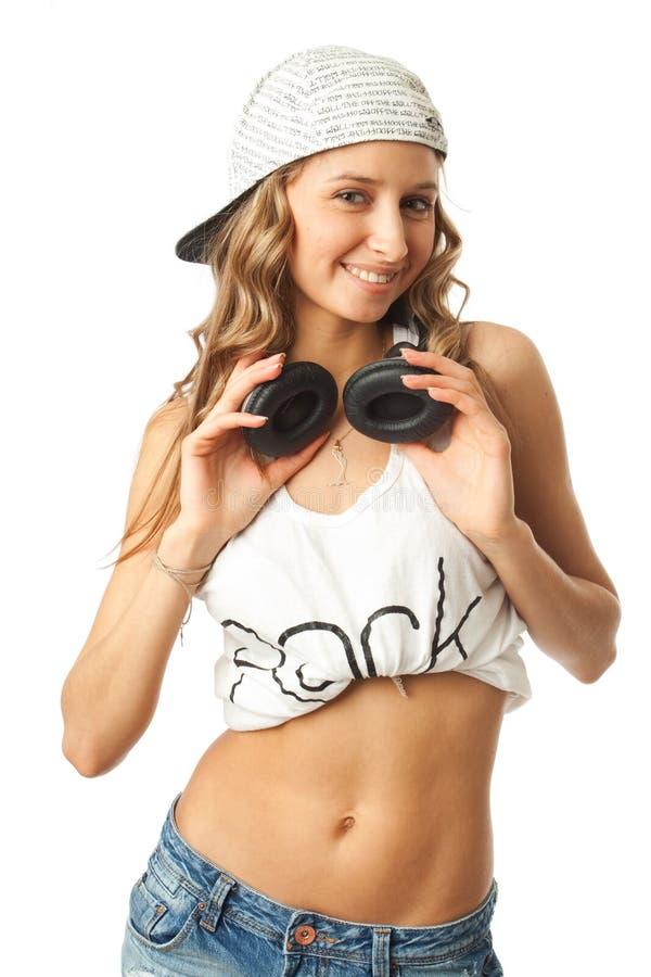 A menina nova de hip-hop fotografia de stock royalty free