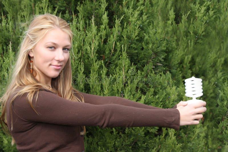 Menina nova do ecólogo imagens de stock