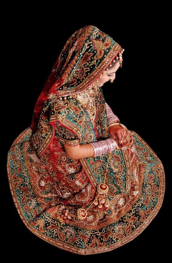 Menina nupcial indiana fotografia de stock