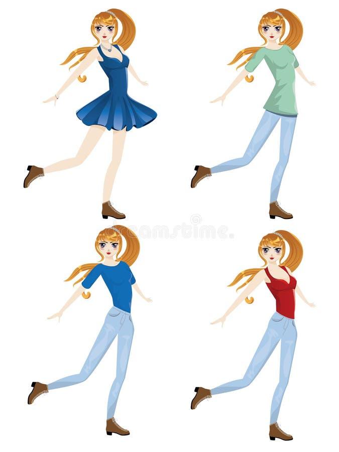 Menina ocasional da forma ilustração royalty free