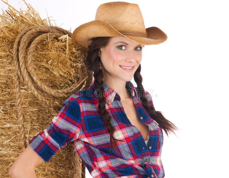 Menina ocidental selvagem fotos de stock