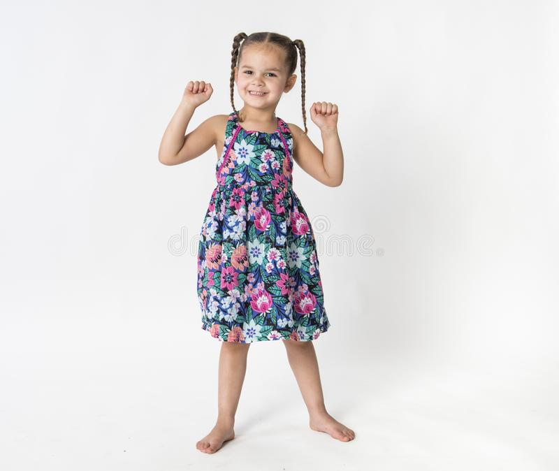 Menina orgulhosa, feliz, entusiasmado imagens de stock royalty free