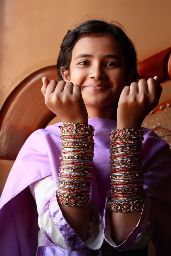 Menina paquistanesa imagens de stock
