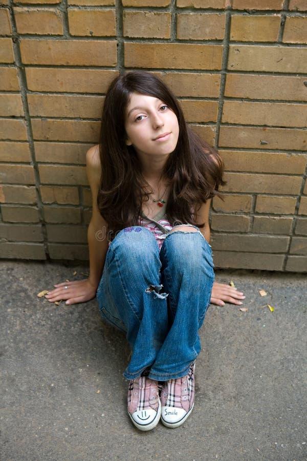 A menina pensativa foto de stock royalty free