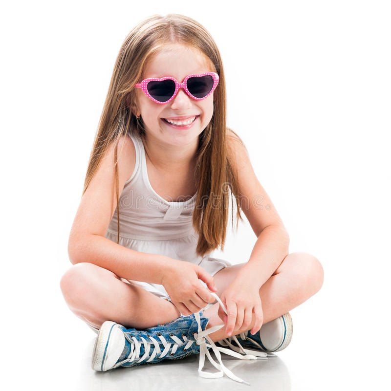 Menina pequena bonito da fôrma imagens de stock royalty free