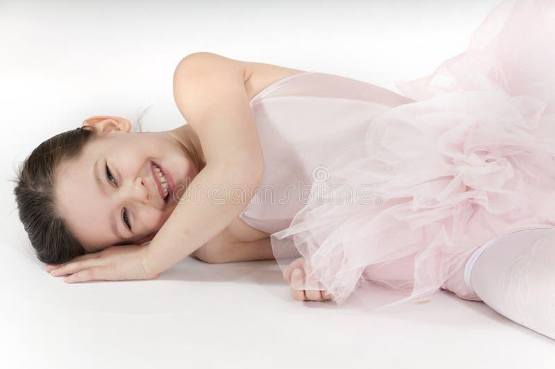 Menina pequena da bailarina imagem de stock