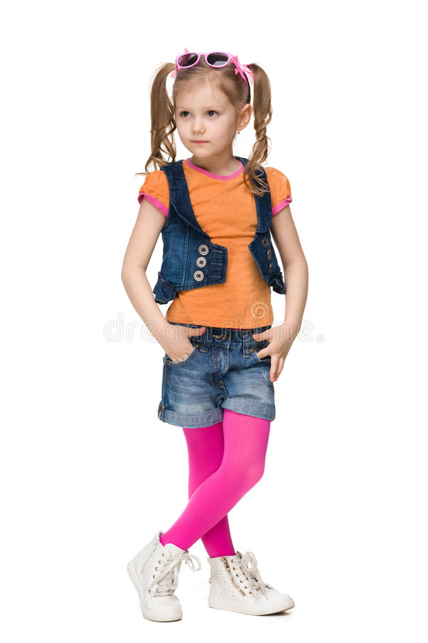 Menina pequena da forma foto de stock royalty free