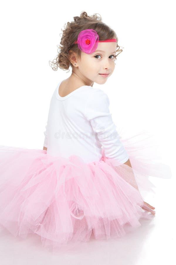 Menina pequena da princesa com acessórios imagem de stock royalty free