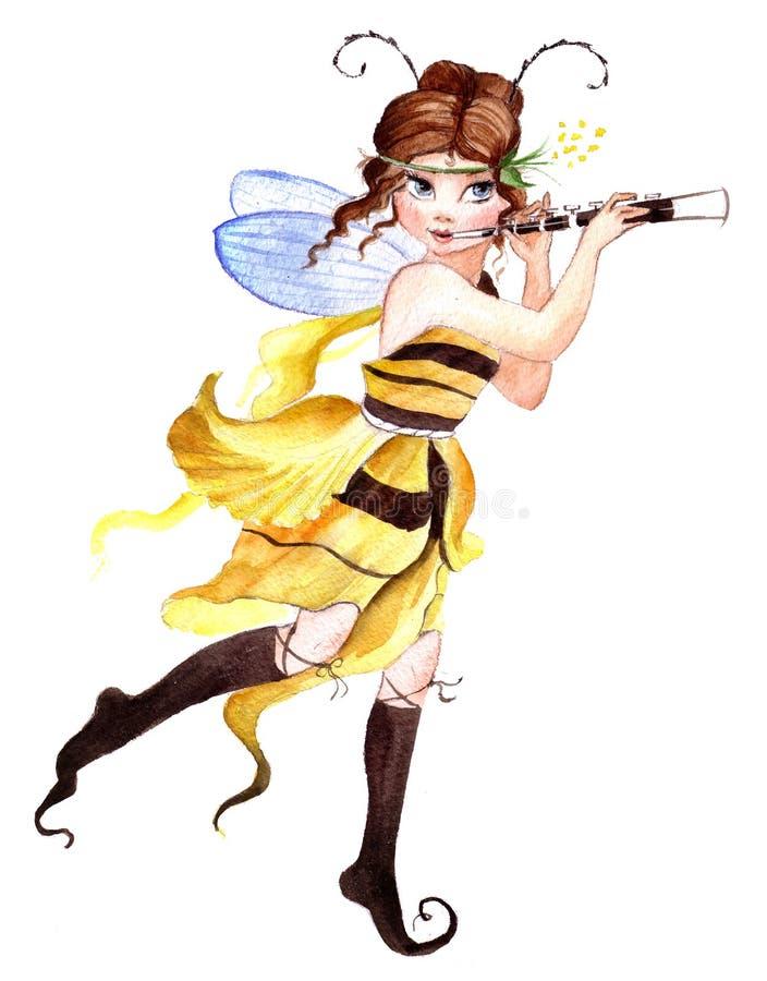 Menina pequena do duende ilustração do vetor