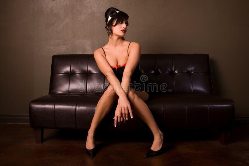 Menina Pin-acima. fotografia de stock