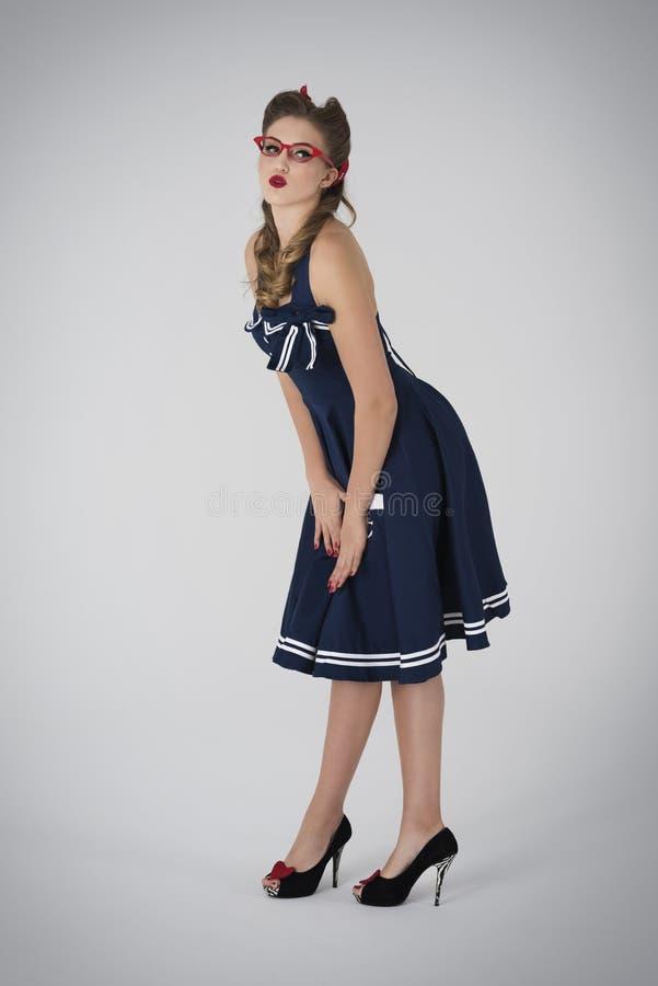 Menina Pin-acima imagens de stock royalty free