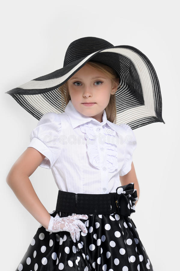 Menina Pin-acima retro imagem de stock royalty free