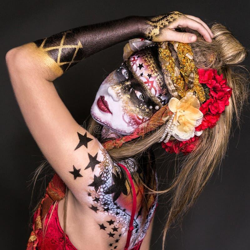 Download Menina pintada BB149506-1 foto de stock. Imagem de carnival - 65578892