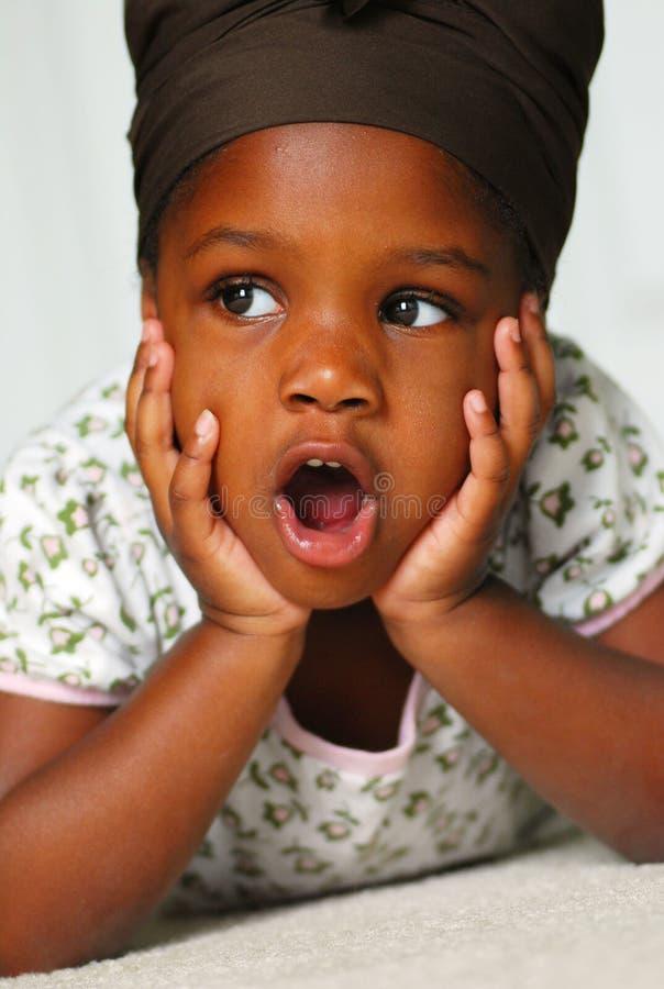 Menina pré-escolar fotografia de stock royalty free