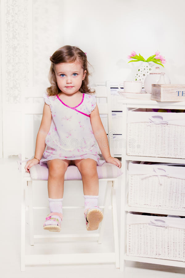 Menina pré-escolar doce imagens de stock royalty free