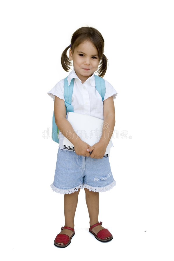 Menina pronta para a escola imagens de stock royalty free