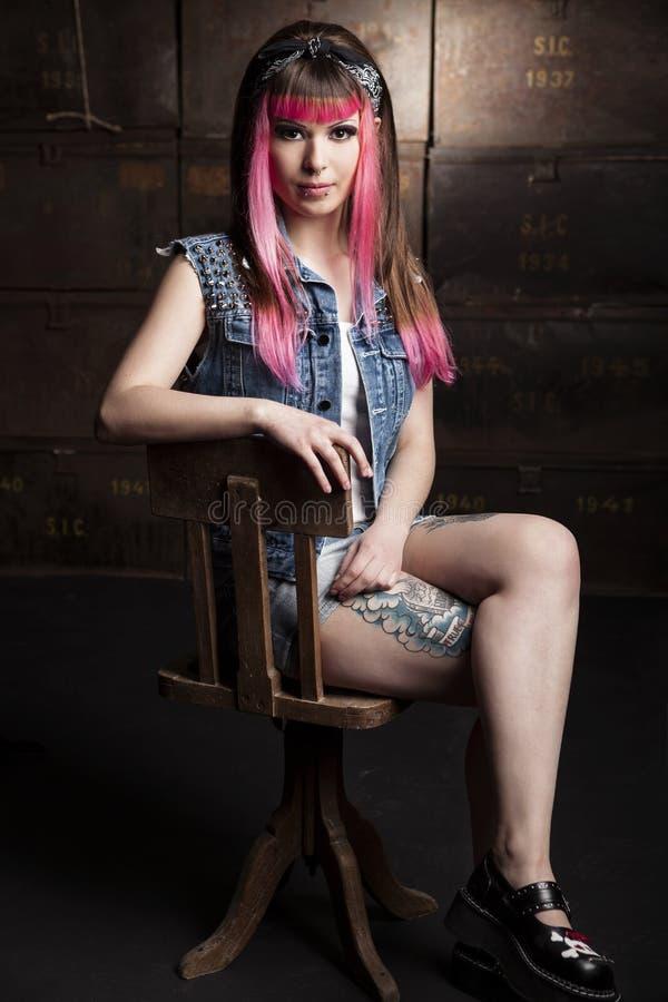 Menina punk fotos de stock