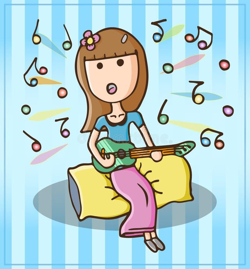 Menina que canta felizmente imagens de stock royalty free