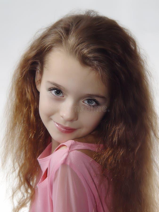 Menina que expressa o modelo da foto imagens de stock