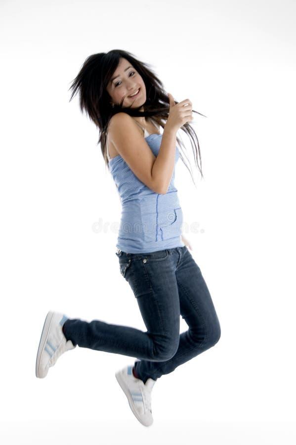Menina que faz a dança imagens de stock