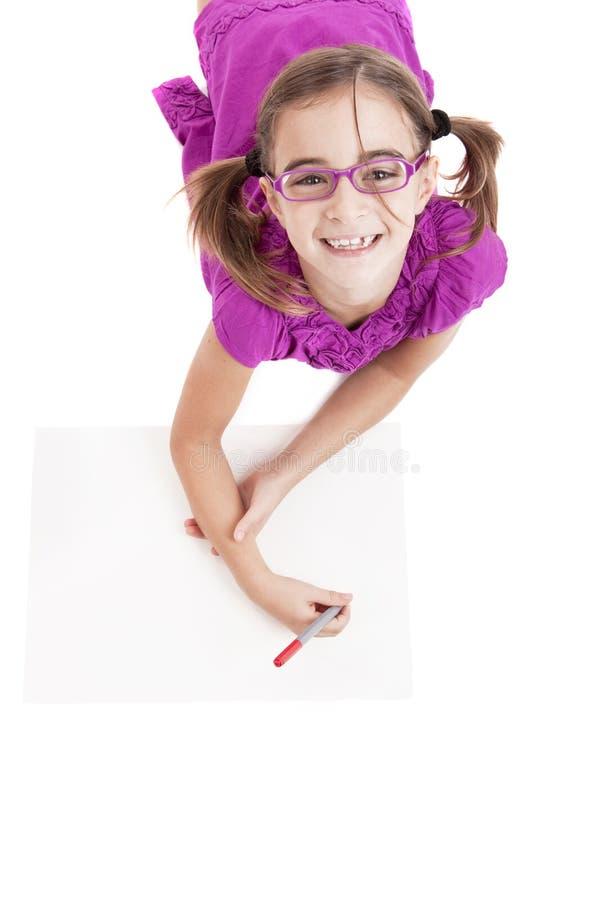 Menina que faz desenhos fotos de stock royalty free