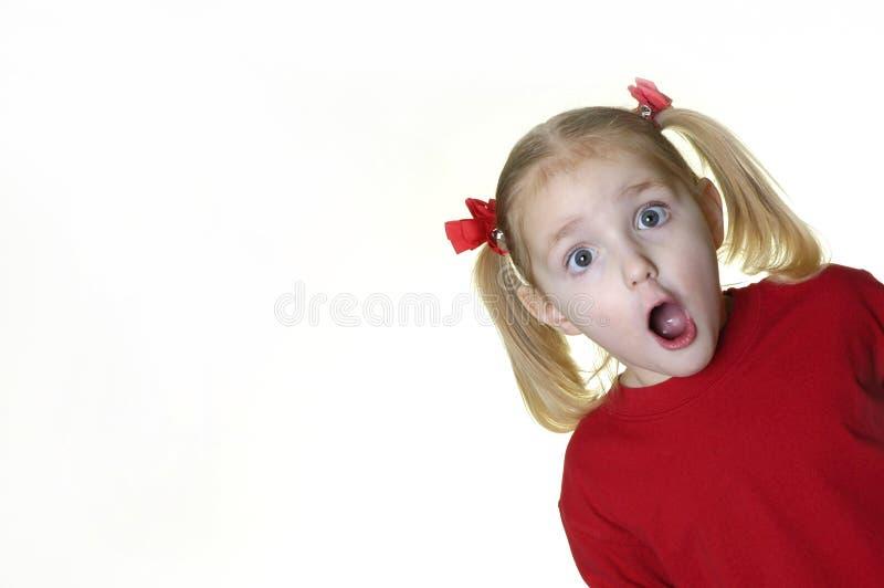 Menina que faz a faces II 9 foto de stock royalty free