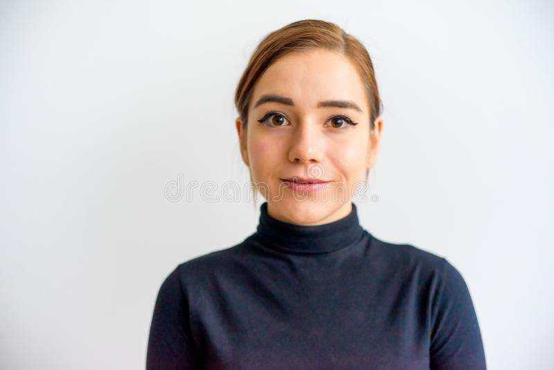 Menina que mostra emoções fotografia de stock royalty free