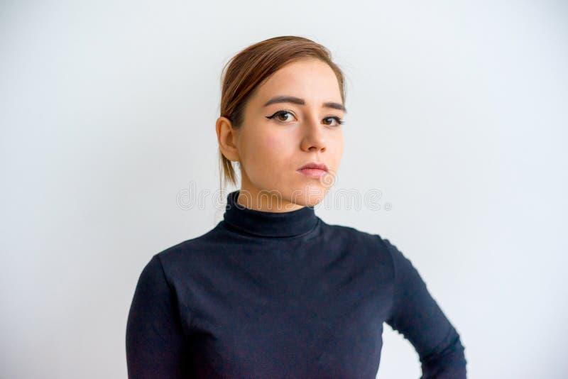 Menina que mostra emoções fotografia de stock