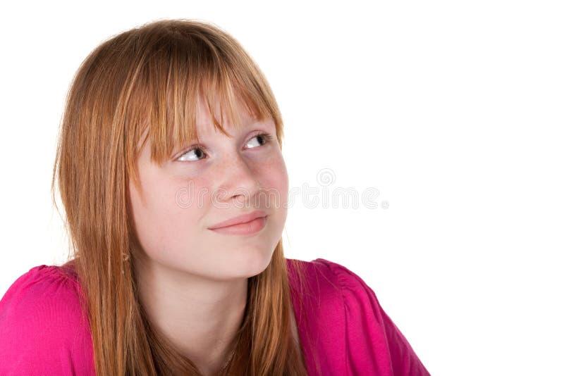 Menina que sonha no dia imagem de stock royalty free