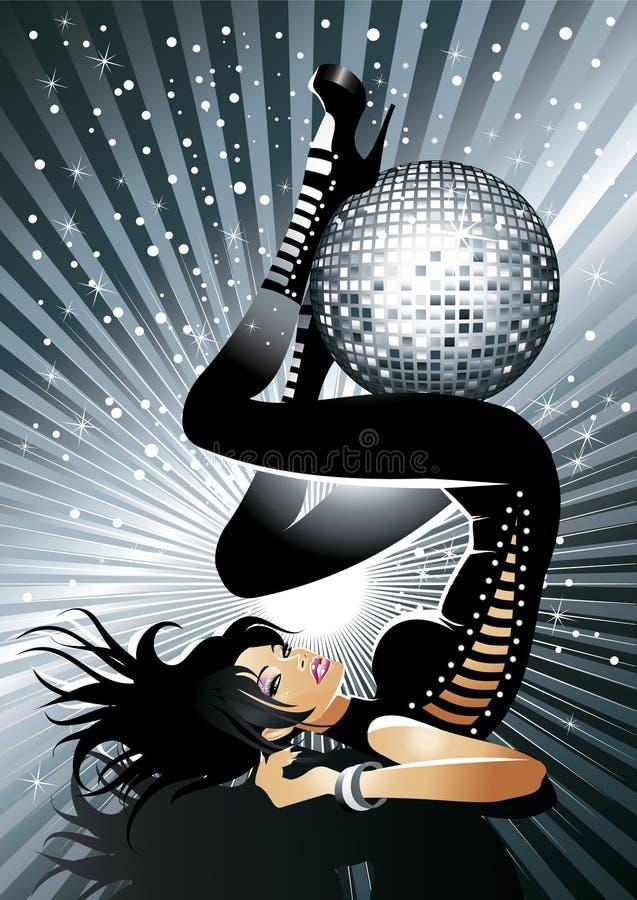 Menina quente do disco ilustração stock