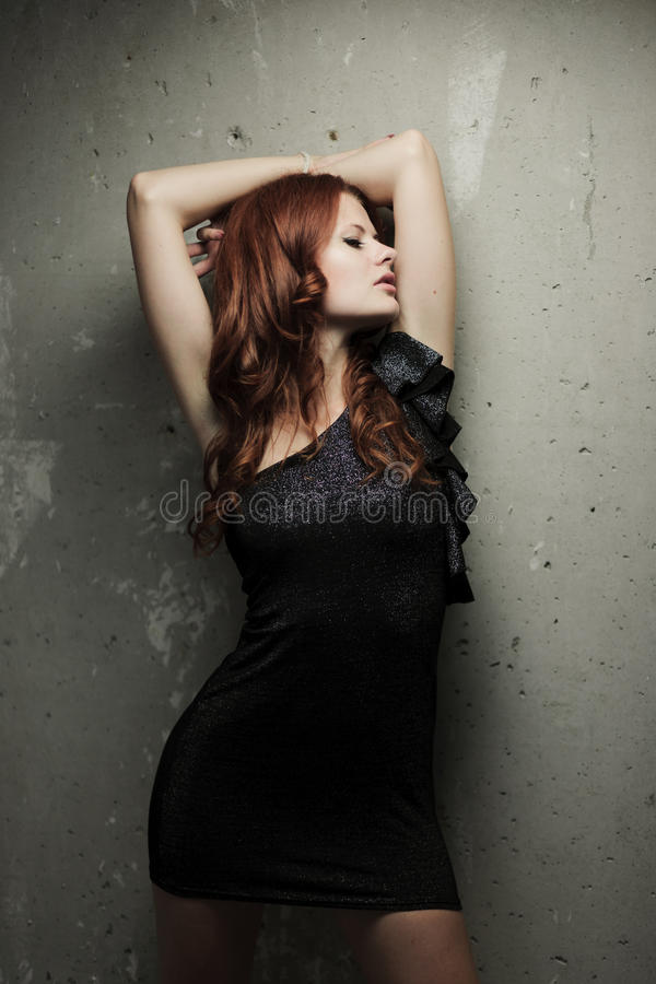 Menina quente do redhead imagens de stock royalty free