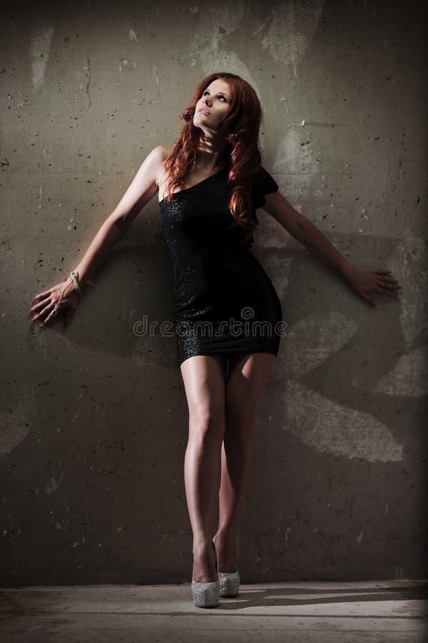 Menina quente do redhead imagem de stock