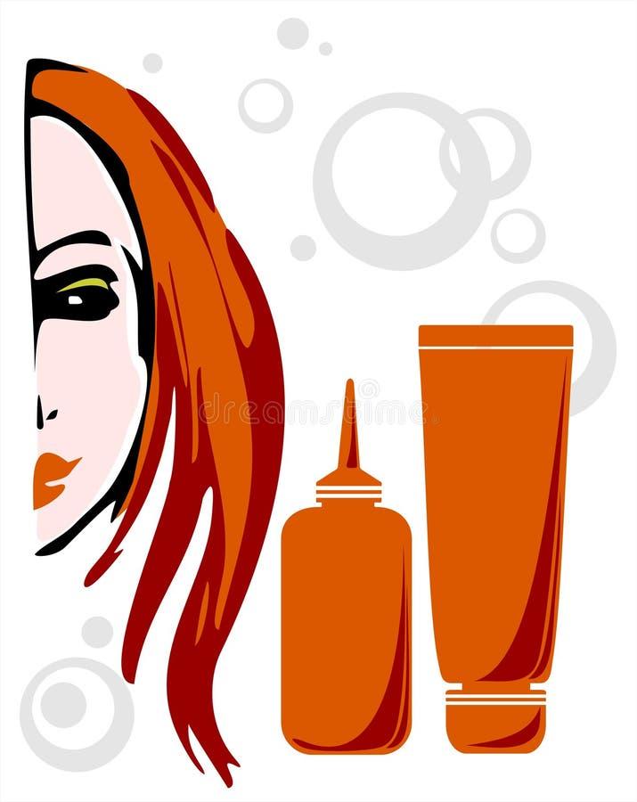 Menina Red-haired ilustração stock