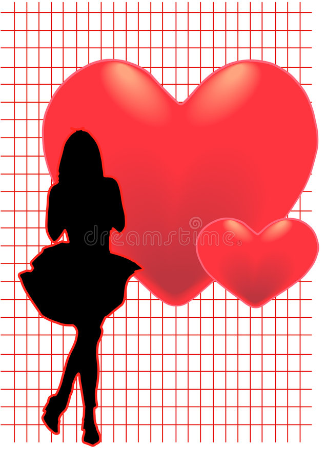 Menina romance ilustração do vetor
